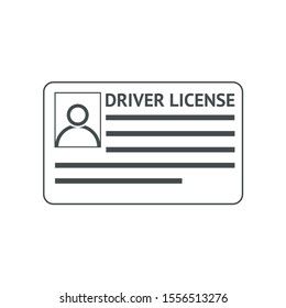 Icon driver's license in flat style, identity card. ID card, identification card, identity verification, person data.