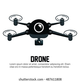 icon drone technology graphic
