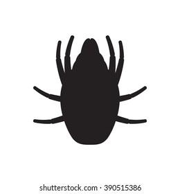 Icon dust mite. Vector illustration.