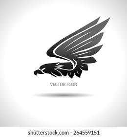 Icon with an eagle on a white background.