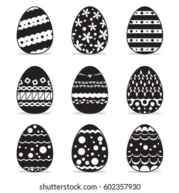 icon easter egg  set, symbol vector