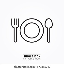 Icon eat food single icon graphic designer