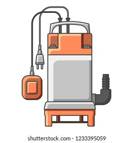 Icon electrical submersible pump. Vector illustration on white background