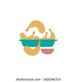 Tempura icon. Element of color international food icon. Premium quality graphic design icon. Signs and symbols collection icon