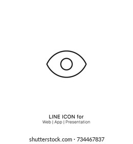 Icon eye view watch graphic design single icon vector