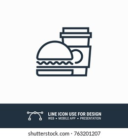 Icon fastfood graphic design single icon vector illustration