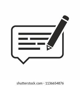 icon feedback, definition. Vector