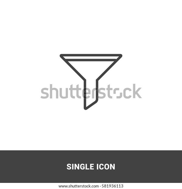 Icon filter Single Icon Graphic Design