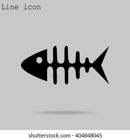 icon of fish bone
