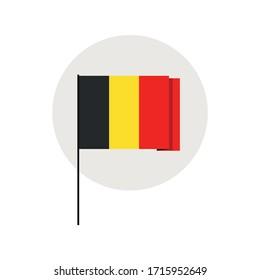 Icon. Flag of Belgium, Vector illustration