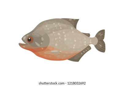 Icon of flatfish. Marine animal. Sea and ocean life theme. Flat vector element for product packaging or restaurant menu