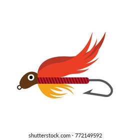 Icon Of Fly Fishing Lures Hook