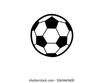 icon football vector on white background.soccerball.