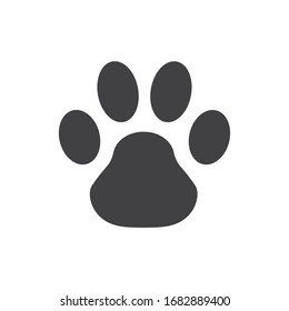 The icon is a footprint of an animal. template for printing design.