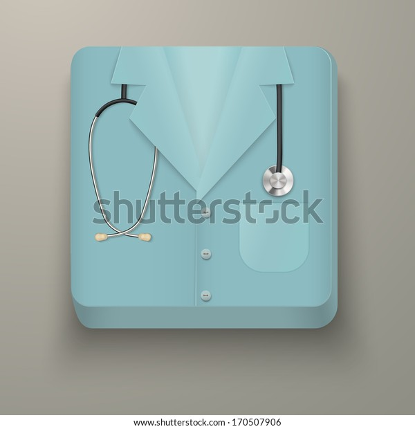 Icon in the form of medical clothing. Premium design. Vector illustration, isolated and editable.