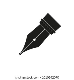 Icon of a fountain pen. Vector illustration.