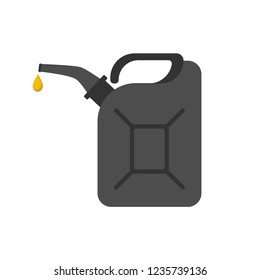 Icon fuel canister, Canister of gasoline. Vector illustration.