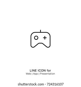 Icon game controller gamepad console graphic design single icon vector