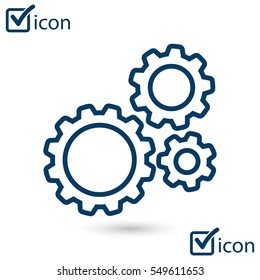 Icon of gears. The development and management of business processes.