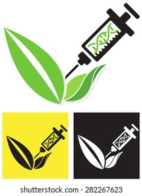 Icon - Genetically Modified Crop - Illustration