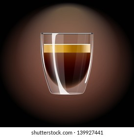 icon glass beaker for shot-cocktail or coffee drinks
