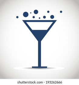 Icon glass wine.