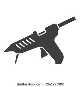 Icon glue gun. Vector on white background