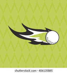 Icon of golf design, vector illustration