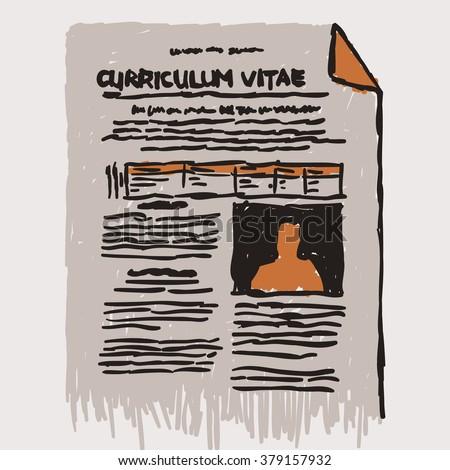 Icon Graphic Curriculum Vitae Resume Generic Stock Vector Royalty