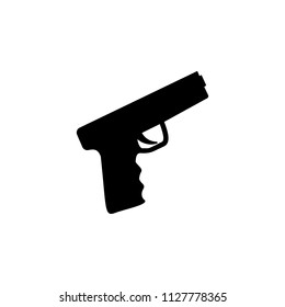 The icon of gun, pistol, handgun, weapon. Simple flat icon illustration, vector of gun, pistol, handgun, weapon for a website or mobile application