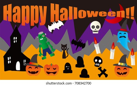 It is an icon of Halloween. Vector illustration.