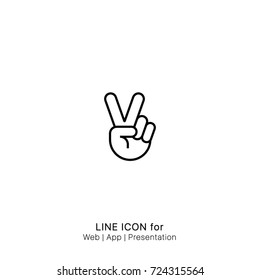 Icon Hand o peace graphic design single icon vector