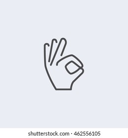 Icon hand okay Vector