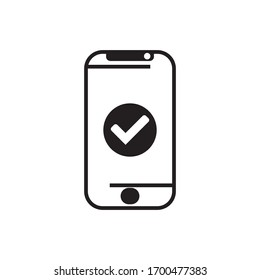 icon handphone vector with white background and black collor from eps 10