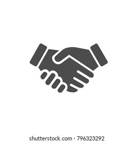 icon handshake. contract of the transaction. successful agreement