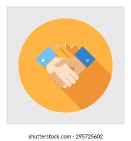 Icon of handshake sign