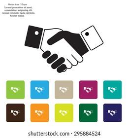 Icon of handshake sign.