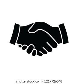Icon of a handshake. Vector illustration EPS10