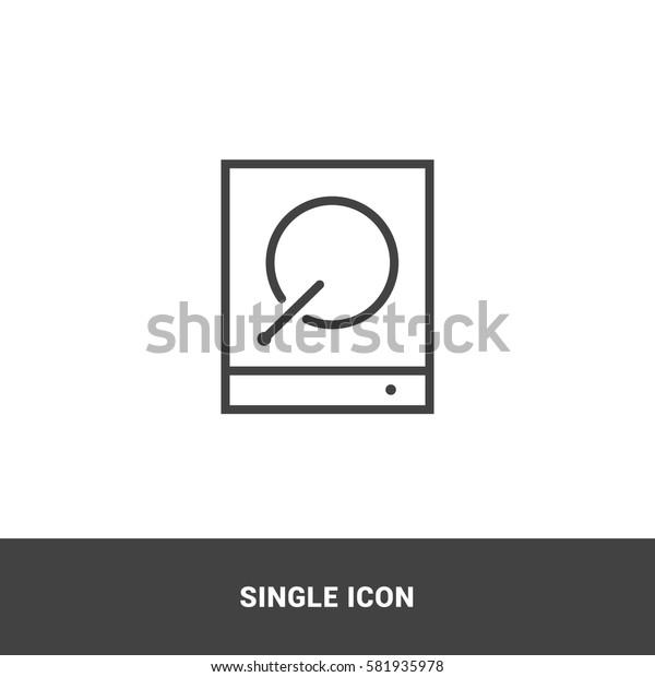 Icon hard-drive Single Icon Graphic Design