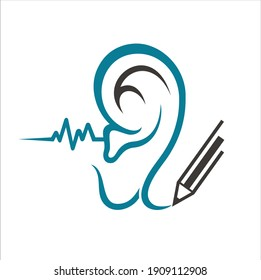 icon for hearing health , icon for clinic or hospital.