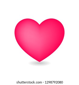 Icon of heart isolated on white background