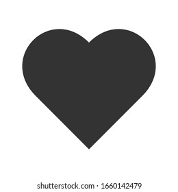 icon heart on a white background. love vector illustration. eps 10