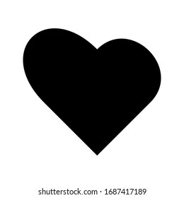 icon heart on a white background. love vector illustration