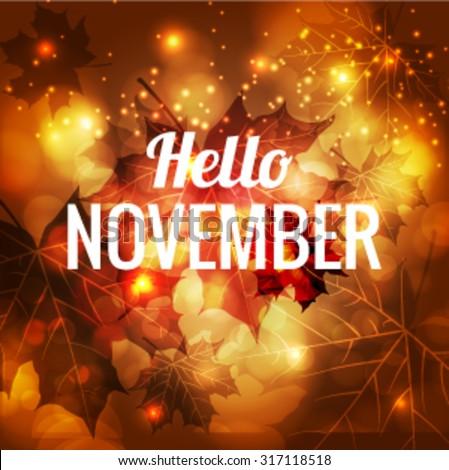 icon hello november vector eps 10 stock vector royalty free