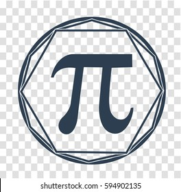 Icon  Holiday - Pi day. Icon in the linear style