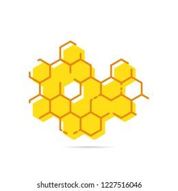 Icon honeycomb. Flat.