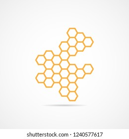 Icon honeycomb. Flat vector