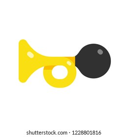 Icon horn, car horn simple flat style vector illustration isolated on white background