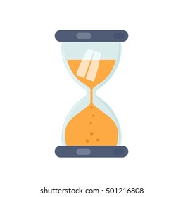 icon hourglass countdown. Flat vector illustration isolate on a white background. easy to use