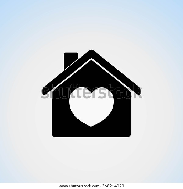 Awesome Icon House Heart Symbol His Home Stock Vektorgrafik Home Remodeling Inspirations Genioncuboardxyz
